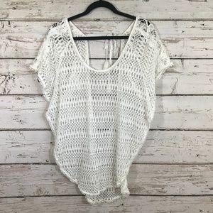 Victoria Secret White Crochet Lace Cover Up